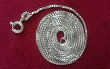 """Beautiful 18"""" Real Sterling Silver 925 Box Chain Necklace 1mm Quality Lot H4"""