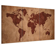 Unframed HD Canvas Prints Picture Wall Art Painting Home Decor Retro World Map