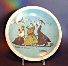 Norman Rockwell On Tour -  When In Rome Plate - Newell Pottery - Brad-Ex