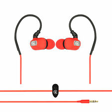 Urbanz STRIVE Running Sports Earhook Headphones Earphones iPod iPhone - Red