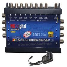 MK-Digital MS 9-8 Multischalter 9/8 Sat Verteiler Multiswitch Full HDTV HD+ Sky
