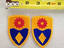 Lot of 2 49th MILITARY POLICE BRIGADE PATCH U.S. ARMY Class A UNIFORM MP Send Me