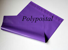 100 Violet Plastic Mailing Bags 6x9 6 x 9 165x230mm poly POSTAL strong purple