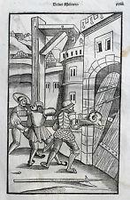 VEGETIUS Végèce de l'art militaire Kriegskunst Re Militari ORIGINAL 1535 Epitoma