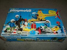 BOX ONLY VINTAGE PLAYMOBIL #1904 POLICE RECUE SUPER DELUXE SET WITH STORAGE