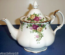 Royal Albert Old Country Roses Teapot Tea Pot Large 6-Cup Gold Trim New