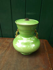 Vintage Maling Pottery Green Lamp Base