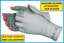GLACIER ASCENCION FINGERLESS FISHING SUN GLOVES Size LARGE #007GP +50UPF