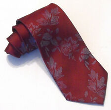 DOCTOR WHO Style Sontaran Red Floral Tie by Magnoli Clothiers