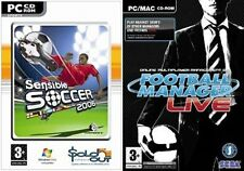 football manager live & sensible soccer   new&sealed