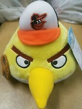 Baltimore Orioles Angry Birds Plush Toy Stuffed Animal Yellow w/ cap & glove