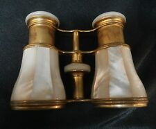 ANTIQUE LEMAIRE OPERA GLASSES BINOCULARS MOTHER OF PEARL PARIS