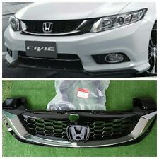 2010-15 Honda Civic JDM Type R Black Mesh ABS Front Hood Grille Grill FB 9th Gen