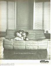 PUBLICITE ADVERTISING 016  1982   les sièges Dunlopillo canapé Panto