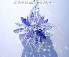 m/w Swarovski Clear, Violet and Purple SUPER STAR Suncatcher Lilli Heart Designs