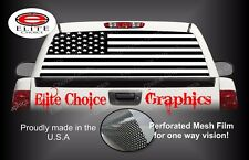 American Flag Black and White Camo Rear Window Graphic Decal Truck Van Car