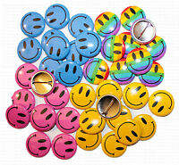 "1"" (25mm) Smiley Face Button Badges WHOLESALE & JOB LOT"