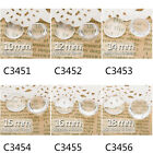 Lot 100Pcs Clear Round Flat Back Crystal Glass Dome Cabochons fit Cameo Settings