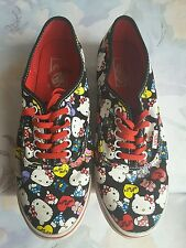 Vans hello kitty canvas tennis shoes size women 8