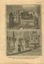 WWI Ruine Eglise de Ramskapelle Nieuport Ramscapelle/Termonde 1915 ILLUSTRATION