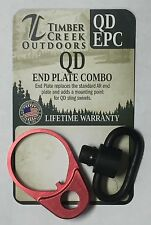 TIMBER CREEK OUTDOORS QUICK DETACH END PLATE COMBO - ANODIZED RED - QD EPC