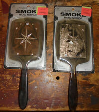 NOS vintage pair of unused wicca chic stars smoky hand mirros astrological goth