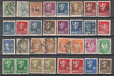 NORWAY ^^^^^  x32  better used  CLASSICS ( LIONS) +others    hcv  @f2161nor