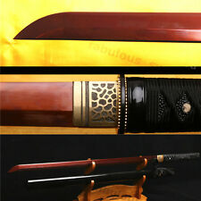 41' 1095 High Carbon Steel &Red Japanese Samurai Straight Katana Battle Ready