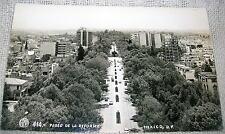 Vintage Ave. Paseo de la Reforma, Mexico Real Photo Postcard - RPPC