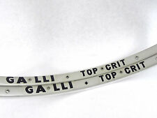 Galli Top Crit Rim Set Silver 700C Tubular 28 Holes Vintage Pro Road Bike NOS
