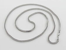 "14K White Gold Franco Link Chain Necklace 34""  28.3 grams"
