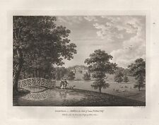1784 ANTIQUE PRINT SEATS OF THE NOBILITY -WATTS-MIDDLESEX-ARNO'S GROVE