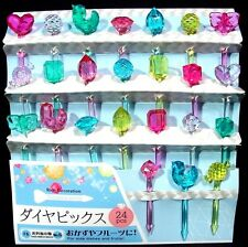 Set of 24 Diamond Style Bento Picks for Obento, Kid's Lunch Box & Party Supply
