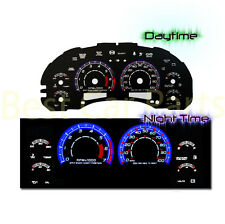 BLACK 98-03 Chevy S10 AT w/7000 RPM INDIGLO GLOW BLUE EL REVERSE GAUGES