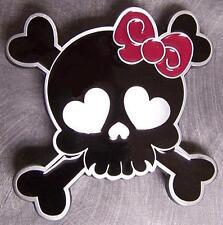 Pewter Belt Buckle novelty Love You Skull & Crossbones