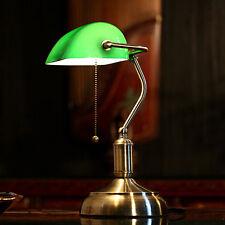 Art Glass Lampshade Table Lamp Vintage Bestside Study Room Desk Office LED Light