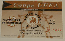 Ticket for collector UEFA Olympique Marseille OM FC Sion 1994 France Switzerland