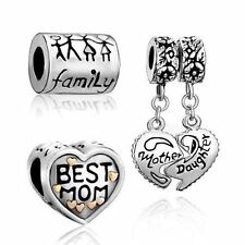 Charm Set–Euro Design22k Gold Plated Best Mom, Family LifeMother Daughter