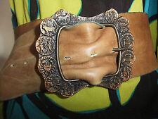 VINTAGE Ceinture corset cuir signes astro leather belt
