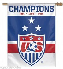 "United States Womens Soccer 2015 3X World Cup Champions 27"" x 37"" Vertical Flag"