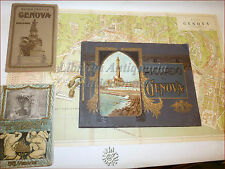 GENOVA: 3 opere '900 GUIDA TURISTICA RICORDO CAMPOSANTO Carta Tavole illustrate