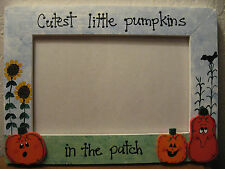CUTEST LITTLE PUMPKINS IN PATCH - Happy Halloween holiday photo picture frame