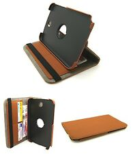 Elegant Matt Textile Rotating Case Stand Samsung GT-N5100 Galaxy Note 8 - Brown