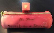 Too Faced Sweet Peach Zip It! Bundle - Peach-sicle Lip Gloss w/Roll Bag NIB