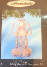 Herrschner's Christmas Ornament Kit Berry Angels NIP Beaded Holiday Decor Gifts