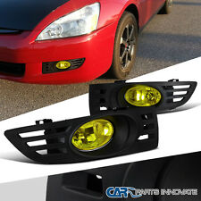 For 03-05 Honda Accord 2Dr Coupe Yellow Fog Lights Driving Lamp w/ Switch