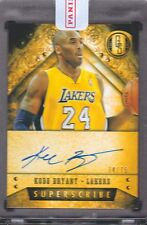 2013-14 Gold Standard Superscribe Autograph #16 Kobe Bryant 74/75 Auto Lakers