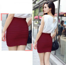 Women's Striped Sexy Mini Skirt Above Knee Clubwear Party Wrapped Pencil Skirt