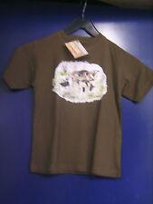 Tee-shirt BARTAVEL imprimé thème chasse T 5-6 Ans neuf +étiquette