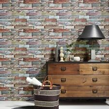 Erismann Authentic Aged Painted Effect Wood Panel Wallpaper 7319-06